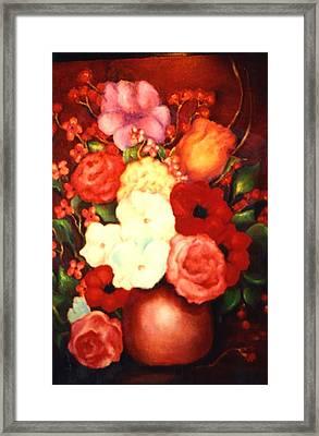 Jewel Flowers Framed Print