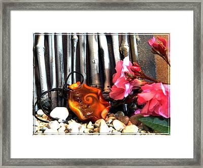 Jewel In Nature Framed Print by Chara Giakoumaki