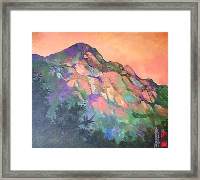Jewel Mountain 1. Framed Print