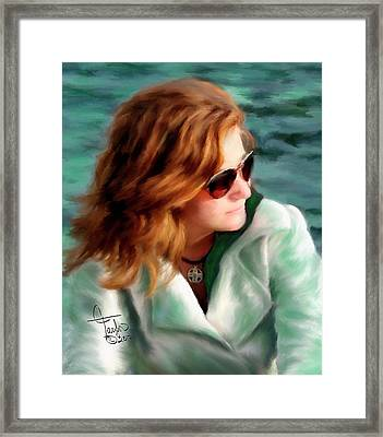 Jewel Of Contemplation Framed Print by Colleen Taylor