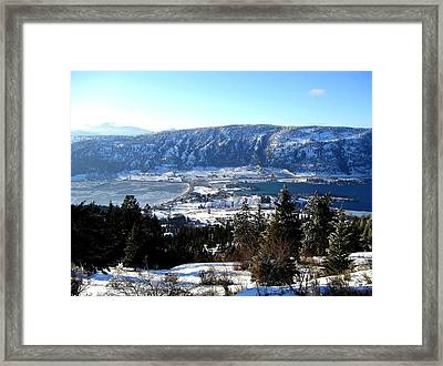 Jewel Of The Okanagan Framed Print