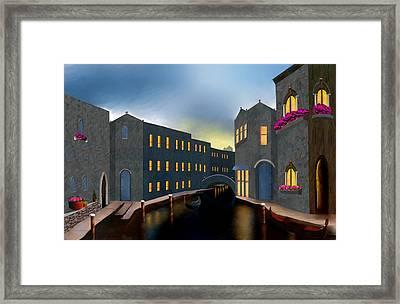 Jewel Of Venice Framed Print by Larry Cirigliano
