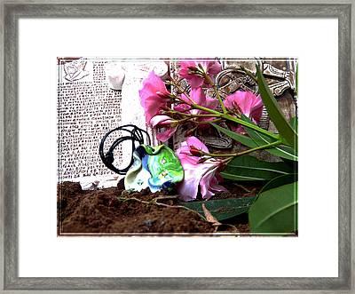 Jewel On Earth Framed Print by Chara Giakoumaki
