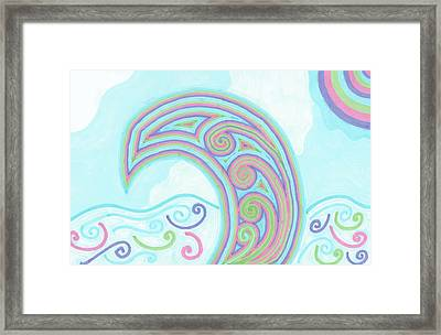 Framed Print featuring the drawing Jewel Sea by Jill Lenzmeier