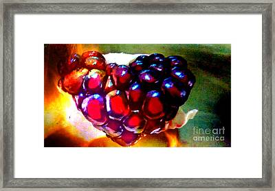 Framed Print featuring the painting Jeweled Heart In Light And Dark by Genevieve Esson