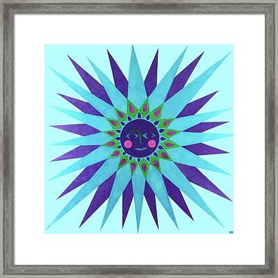 Jeweled Sun Framed Print