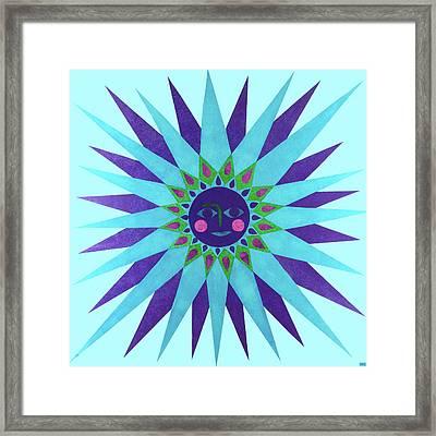 Jeweled Sun Framed Print