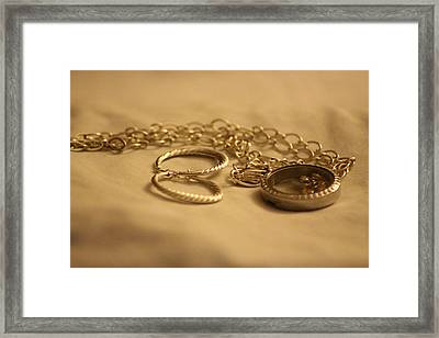 Jewelry For The Lady  Framed Print by Cynthia Guinn