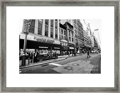 jewelry shops in the diamond district midtown manhattan New York City USA Framed Print