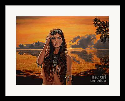 Sunset Pieces Framed Prints