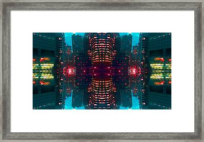 Framed Print featuring the digital art Jewels Of The City 7 by Karni Dorell