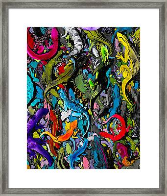 Jewels Of The Demon City Swarm Framed Print