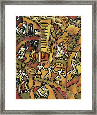 Jewish Community Framed Print by Leon Zernitsky