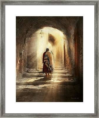 Jewish - Evening Prayers 1934 Framed Print