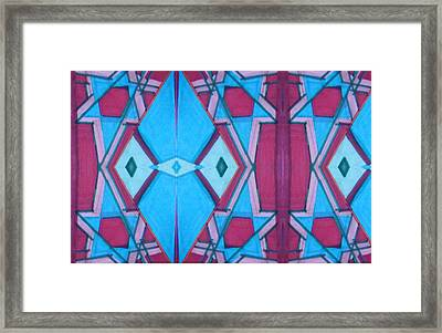 Jewish Stars 12 19 16 Framed Print by Modern Metro Patterns and Textiles