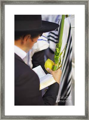 Jewish Sunrise Prayers At The Western Wall 1 Framed Print
