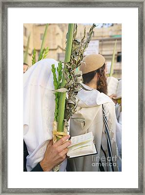 Jewish Sunrise Prayers At The Western Wall, Israel 11 Framed Print