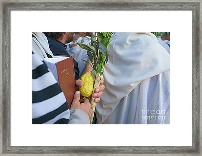 Jewish Sunrise Prayers At The Western Wall, Israel 12 Framed Print