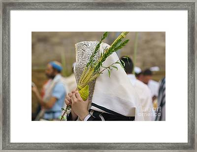 Jewish Sunrise Prayers At The Western Wall, Israel 5 Framed Print