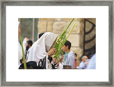 Jewish Sunrise Prayers At The Western Wall, Israel 6 Framed Print