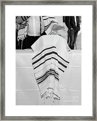 Jewish Tallit  Framed Print by PhotoStock-Israel