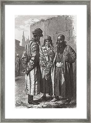 Jews Of Tashkent, Capital Of Framed Print