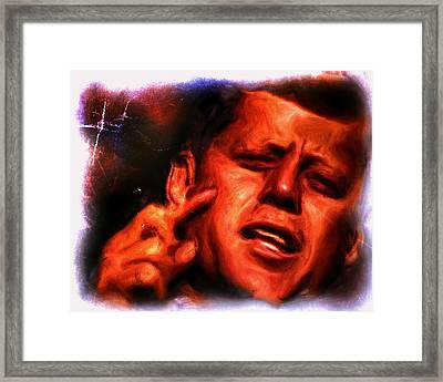 JFK Framed Print by Brian Reaves