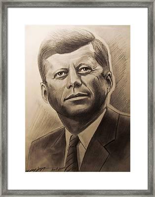 John Fitzgerald Kennedy Framed Print by Gregory Szeps
