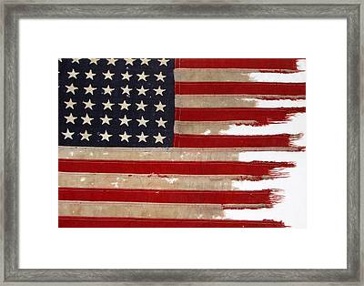 Jfk's Pt-109 Flag Framed Print