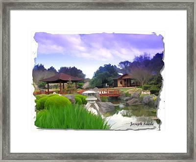 Framed Print featuring the photograph Jg-0021 Kotaji Lantern by Digital Oil