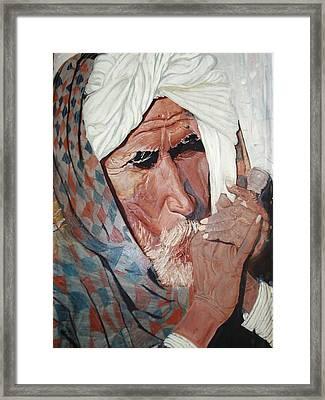 Jhagru Ram's Chillum Framed Print by Narayan Iyer