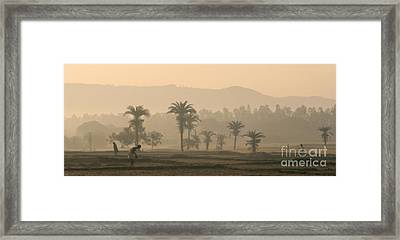 Jharkhand Early Morning Framed Print by Angie Bechanan