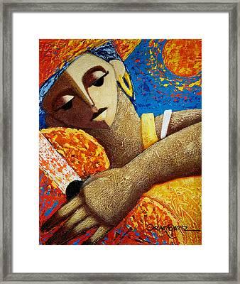 Jibara Y Sol Framed Print by Oscar Ortiz