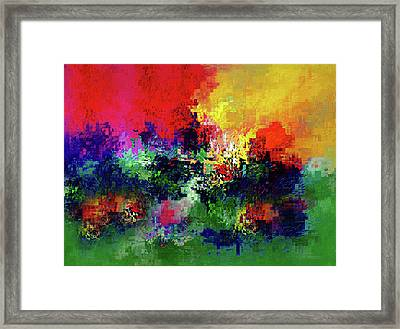 Jigsaw Of Life Abstract Framed Print