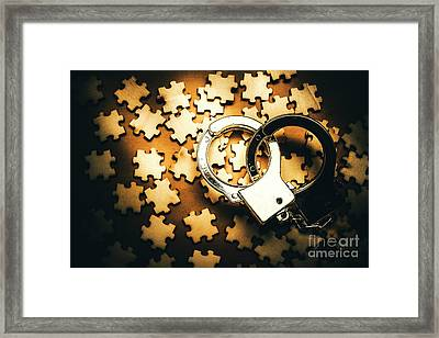 Jigsaw Of Misconduct Bribery And Entanglement Framed Print by Jorgo Photography - Wall Art Gallery