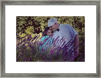 Jill Purple Framed Print