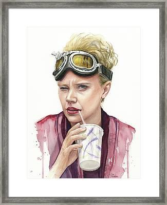 Jillian Holtzmann Ghostbusters Portrait Framed Print by Olga Shvartsur