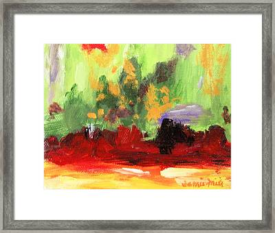 Jill's Abstract Framed Print by Jamie Frier
