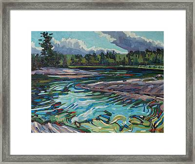 Jim Afternoon Rapids Framed Print by Phil Chadwick
