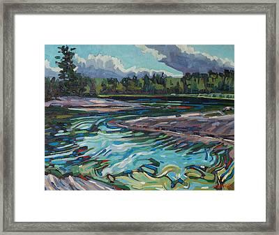 Jim Afternoon Rapids Framed Print