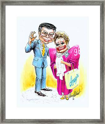 Jim And Tammy Framed Print by Harry West