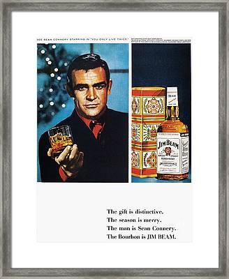 Jim Beam Ad, 1966 Framed Print by Granger