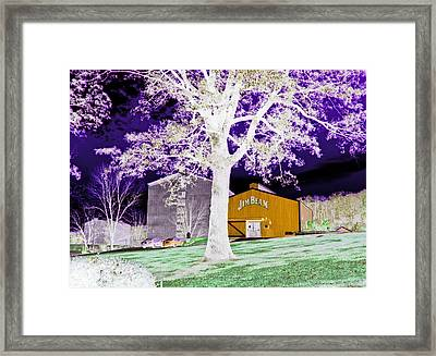 Jim Beam Distillery Buildings In Surreal Abstract 2 Framed Print