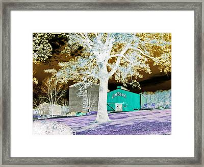 Jim Beam Distillery Buildings In Surreal Abstract Framed Print