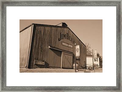 Jim Beam Distillery Sepia Framed Print