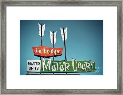 Jim Bridger Motor Court Framed Print by Chris  England
