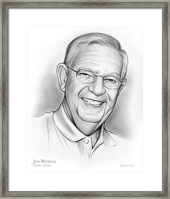 Jim Byers Framed Print by Greg Joens