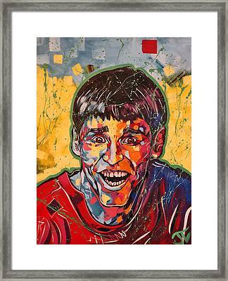 Jim Carrey Framed Print by Jay V Art