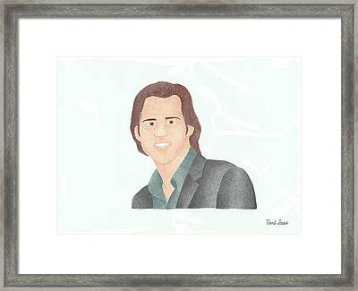 Jim Carey Framed Print by Toni Jaso