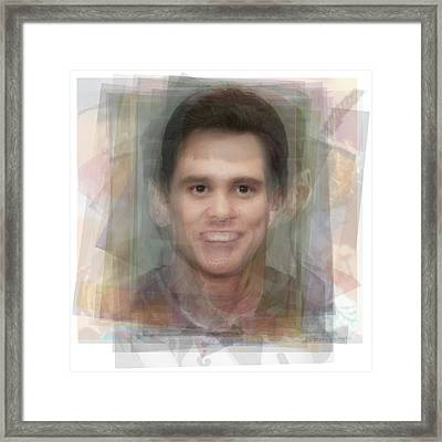 Jim Carrey Framed Print by Steve Socha